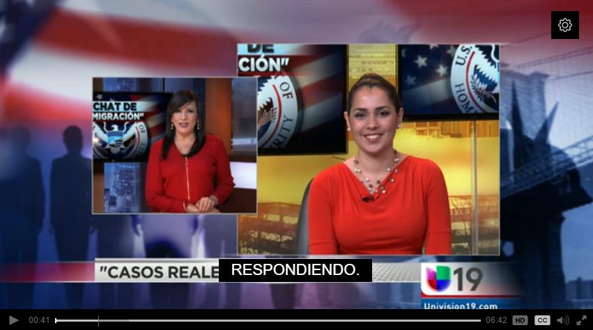 Raissa Morris on Univision 19 June 28 2016